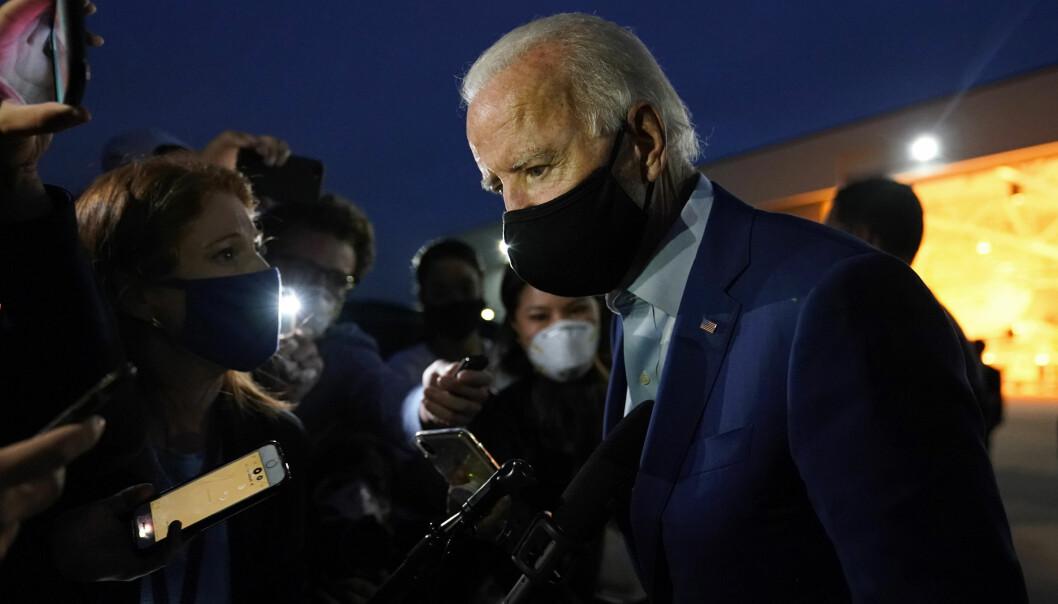 Joe Biden møter pressen i Detroit i begynnelsen av september.