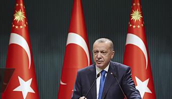 HARD TONE: Tyrkias president Recep Tayyip Erdogan fyrte løs mot Hellas og EU under en tale i hovedstaden Ankara i forrige uke.