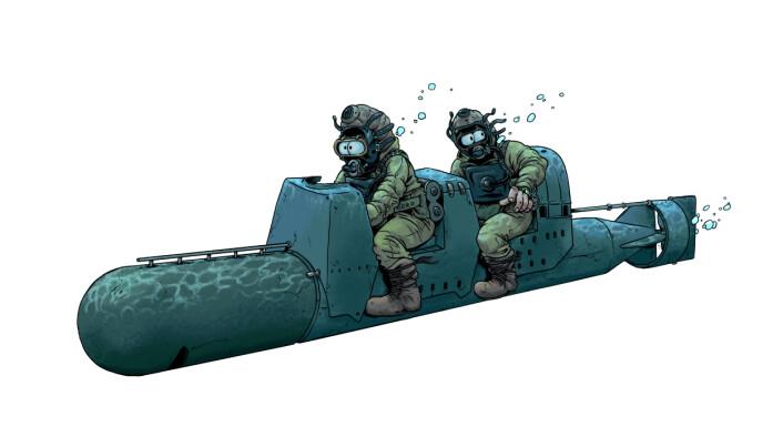 En av planene for å senke skipet var å bruke bemannede torpedoer.