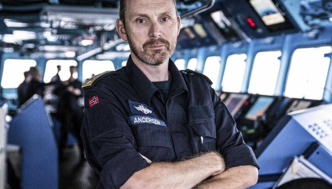 Sjef Marinen, Rune Andersen blir ny sjef for Sjøforsvaret.