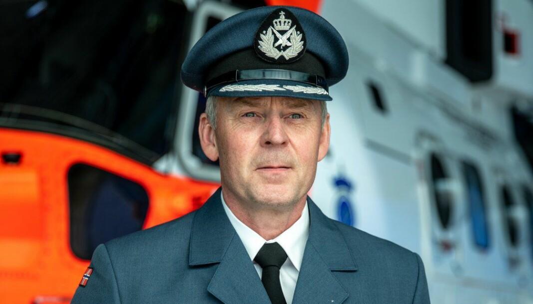 Kommandérsesjant Fritz Gulbrandsen under tildelingen.