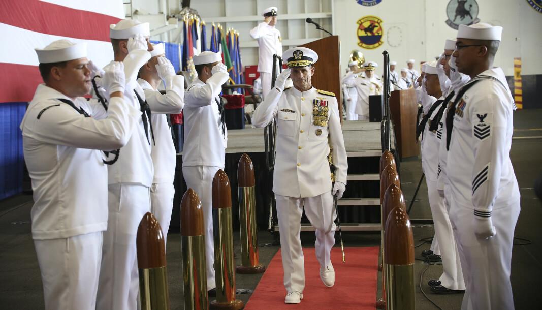 Viseadmiral Andrew Lewis leder både US Second Fleet og det nye Joint Force Command Norfolk. Her under markeringen for etableringen av Second Fleet i 2018.