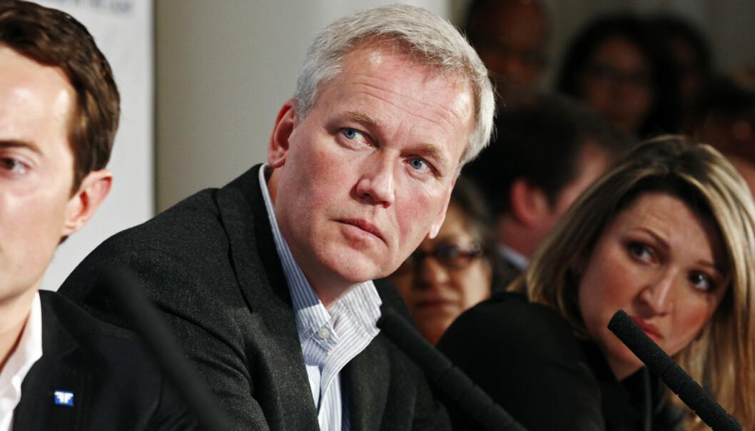 Bjørn Engesland under Oslo Freedom Forum i 2012. Nå går han av som generalsekretær i Helsingforskomiteen etter 25 år.