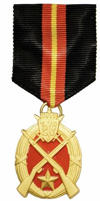 Forsvarets medalje for skyting.