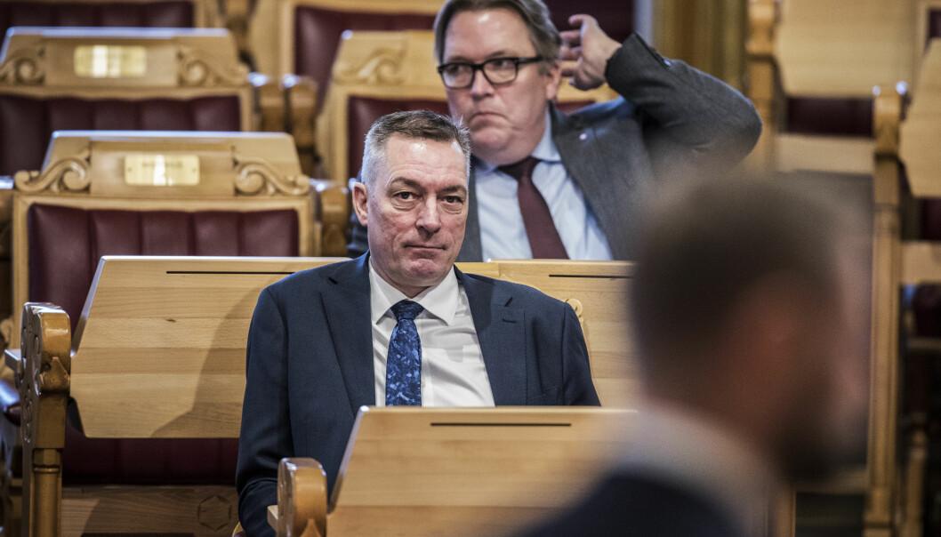 Forsvarsminister Frank Bakke-Jensen (H) under en tidligere spørretime i Stortinget.
