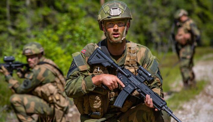 HK416 brukes av Forsvaret.