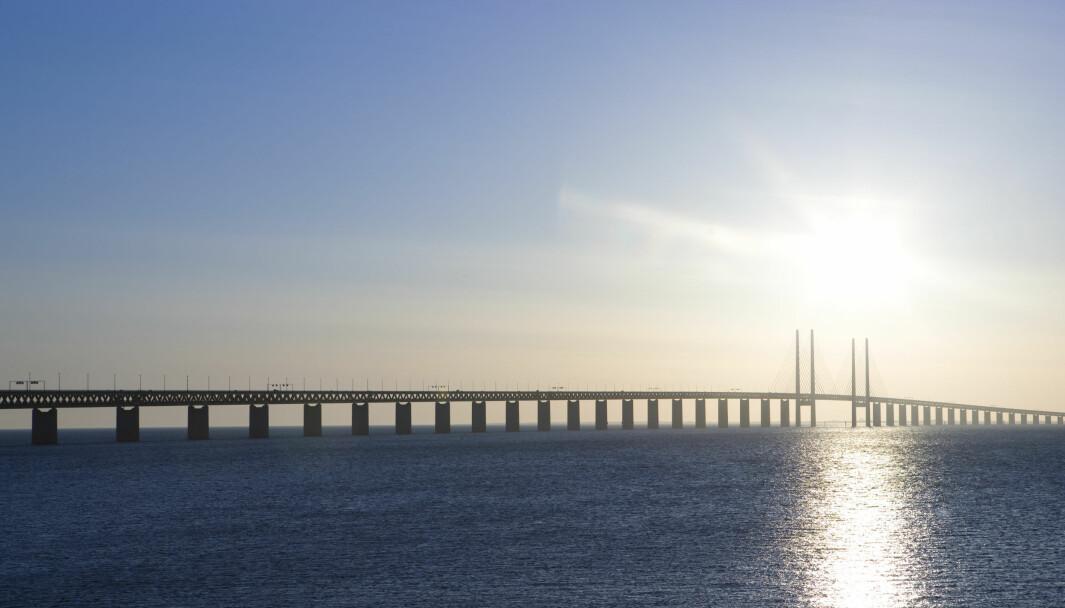 Øresundsbroen mellom Sverige og Danmark.