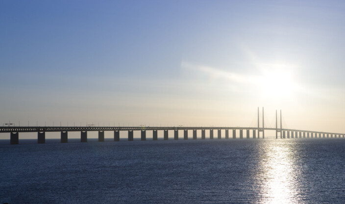 20090917 . Øresundsbroen mellom Sverige og Danmark. FOTO: Berit Roald / SCANPIX .