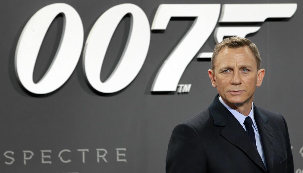 Bond-skuespiller Daniel Craig poserer ved premieren på 'Spectre' in Berlin i 2015.