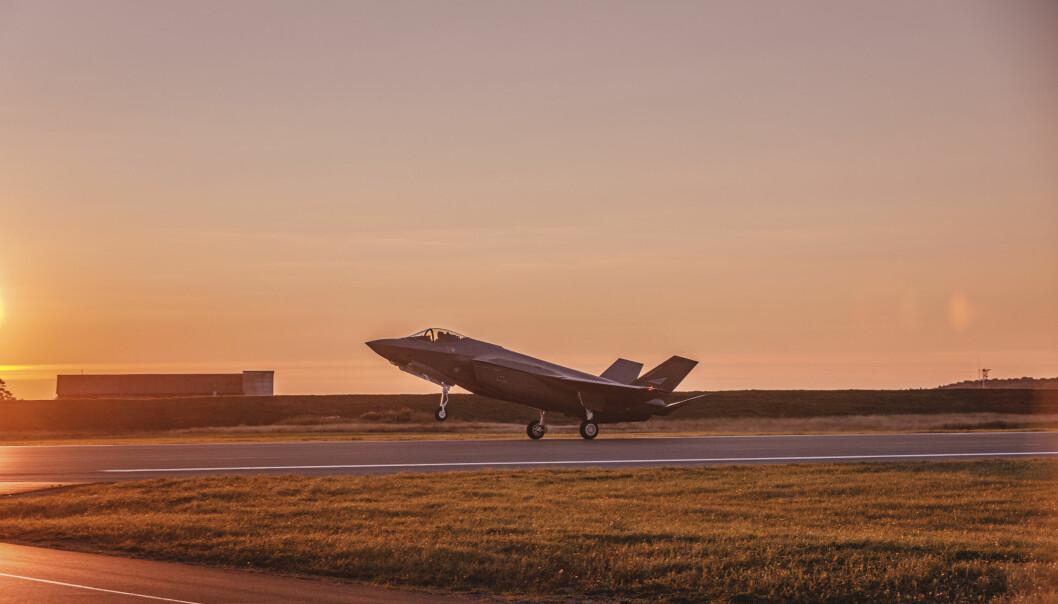 AUTONOMI: Droner og autonomi vil drive utviklingen vekk fra bemannede plattformer, skriver Jon Wicklund . Her ser vi et F-35 på Ørland flystasjon.