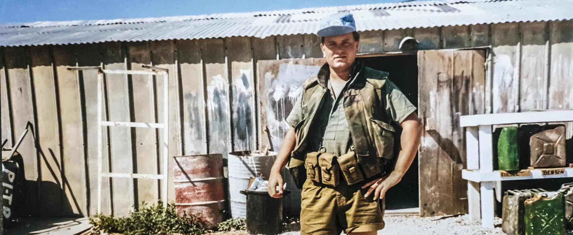 Ole Vikre kjemper for å få erstatning for psykiske sider han mener å ha pådratt seg etter oppdrag i Libanon. Foto: Privat