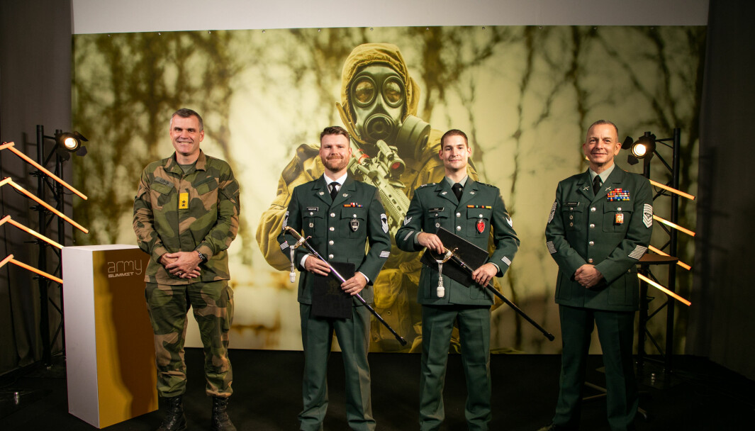 Hærsjef Lars Lervik, Eskild Hagatun, Andreas Thue og Rune Wenneberg.