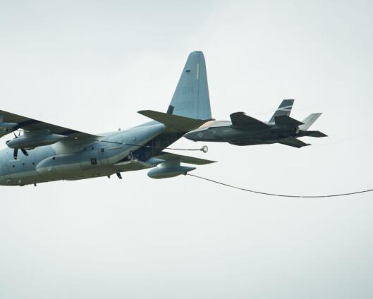 F-35 og tankfly kolliderte i USA