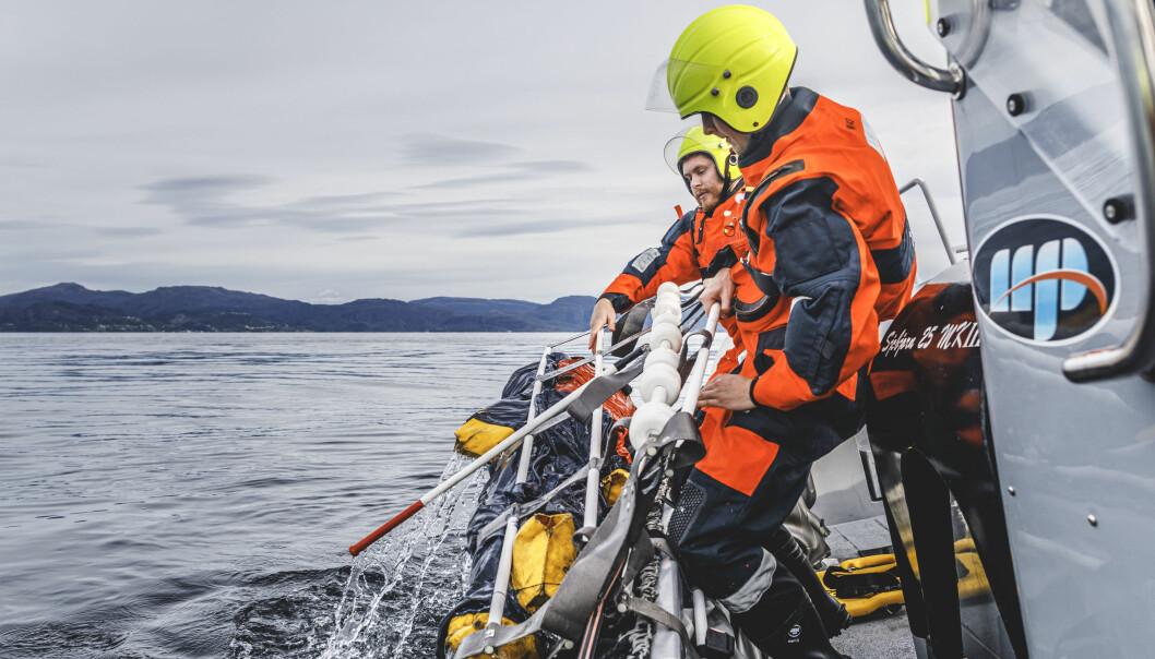 KNM Maud er ute og seiler igjen etter å ha fått opphevet seilingsforbudet. Opptrening og kursing av mannskapet er nå i gang. Mann over bord-øvelse. Foto: Krister Sørbø, Forsvarets forum