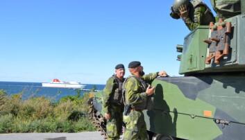 Med økt spenning vokser militæret på Gotland