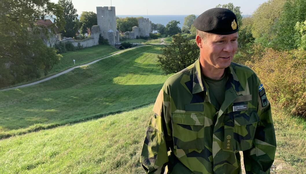 Sjefen for det nyopprettede regimentet på Gotland, oberst Mattias Ardin, kan regne med utvidelse når regjeringen snart presenterer sin nye femårsplan for forsvaret.