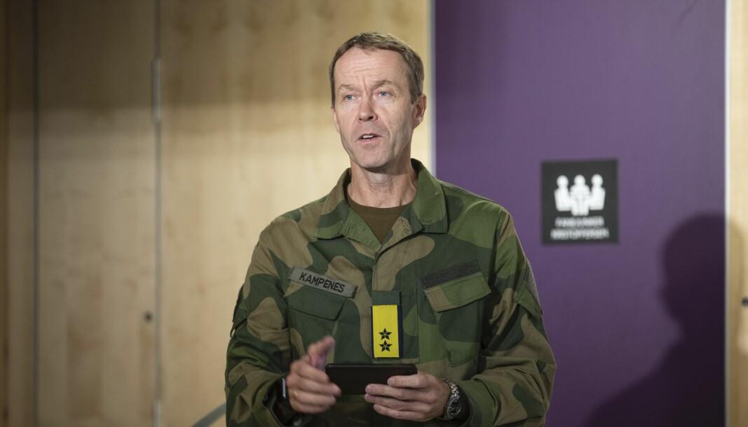 6. oktober 2020 ble en samarbeidsavtale mellom Norges e-sportforbund og Cyberforsvaret signert på Jørstadmoen. Her ser vi sjef Cyberforsvaret Inge Kampenes.