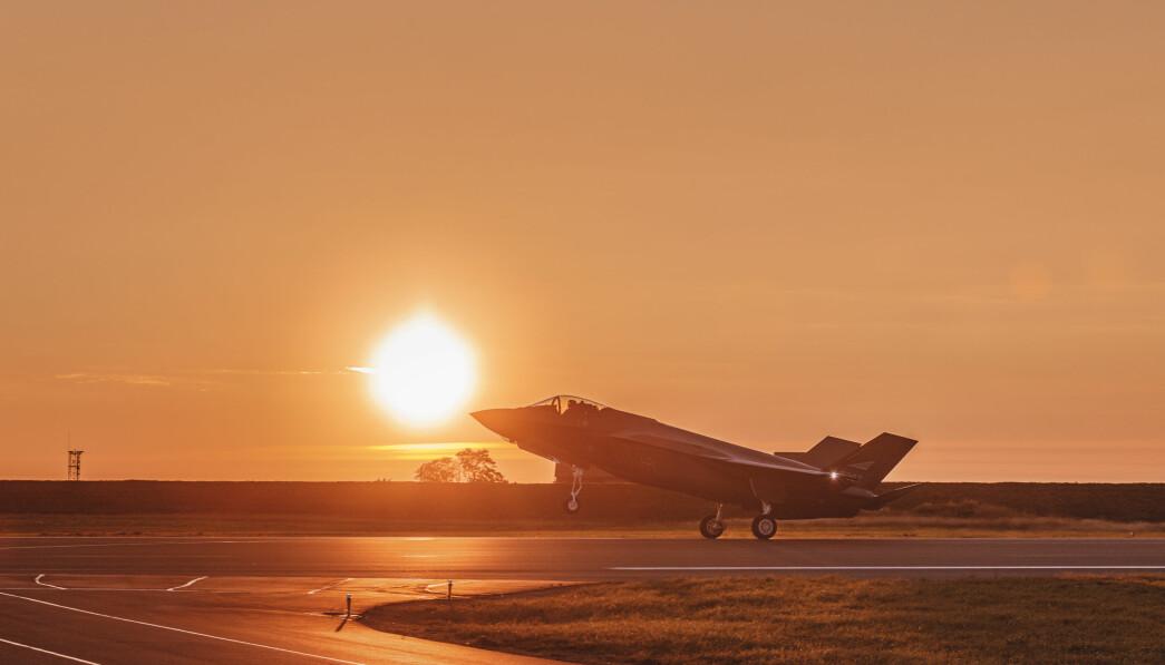 USA og Trump-administrasjonen ønsker å selge kampflyet F-35 til De forente arabiske emirater. Her vi et norsk F-35 på Ørland.