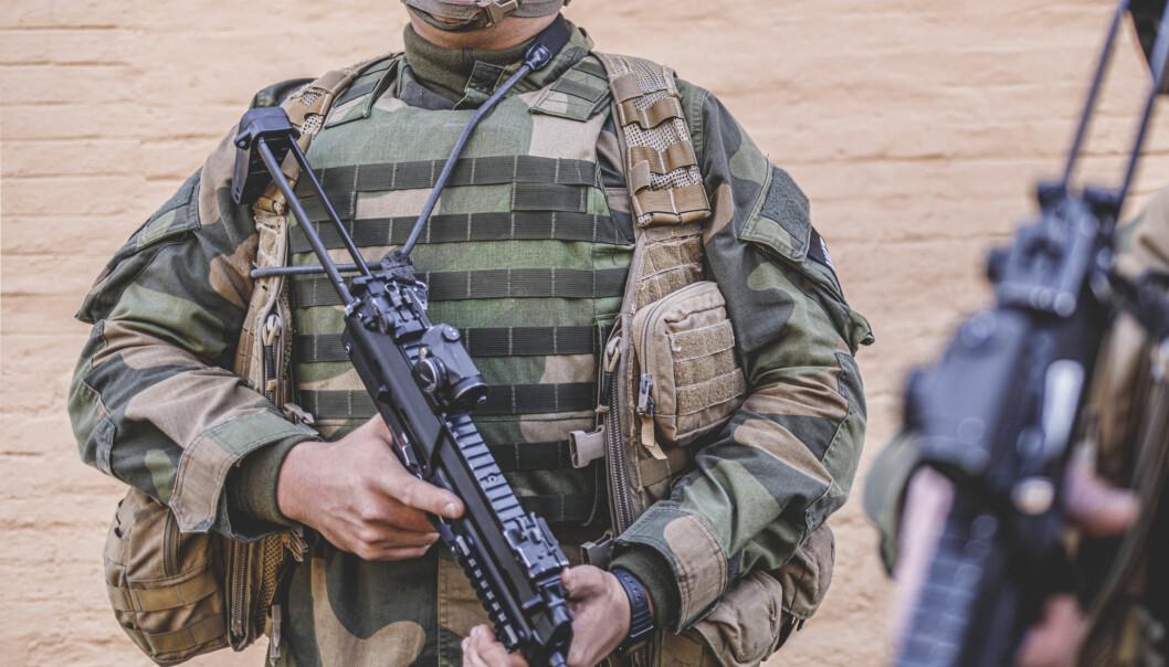 M07 stridsvestsak. Foto: Krister Sørbø, Forsvarets forum
