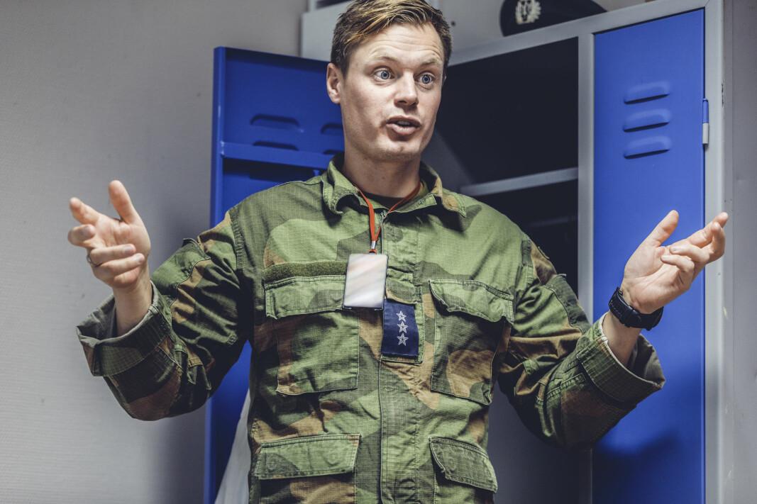 Marius Hauge er kompanisjef i Vakt og sikring i Bergensområdet.
