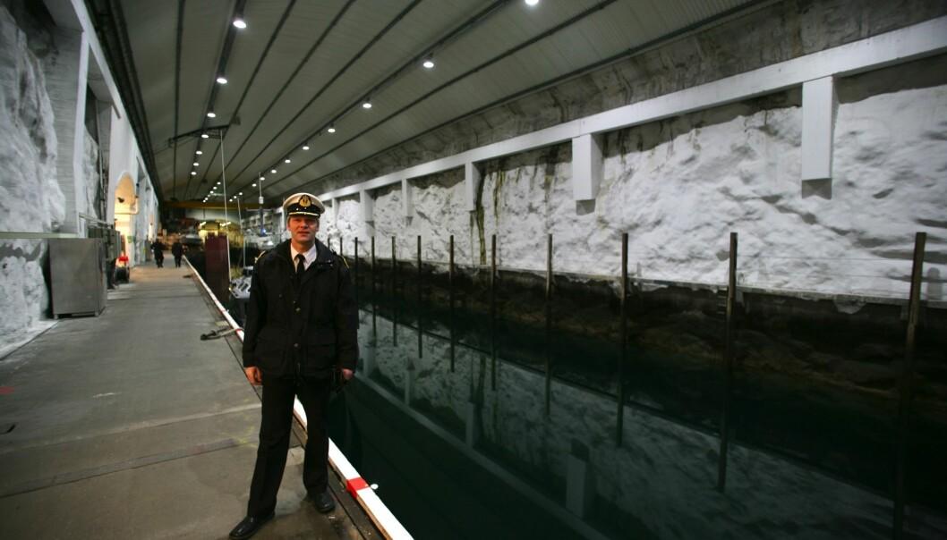 Kommandørkaptein Geir Bentzen var siste sjef på Olavsvern. Bildet er tatt i 2008