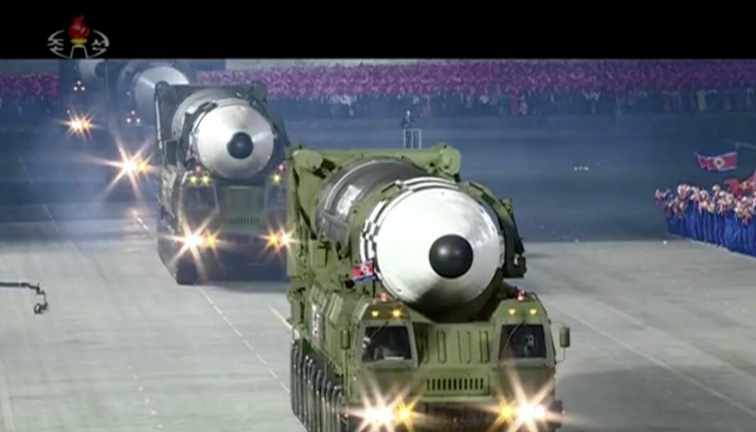 Dette bildet er fra sendingen til KRT i Nord-Korea.