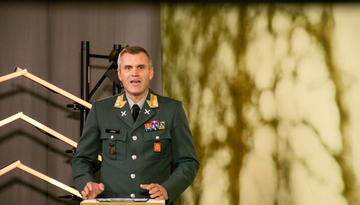 Hærsjef Lars Lervik under årets utgave av konferansen Army Summit.