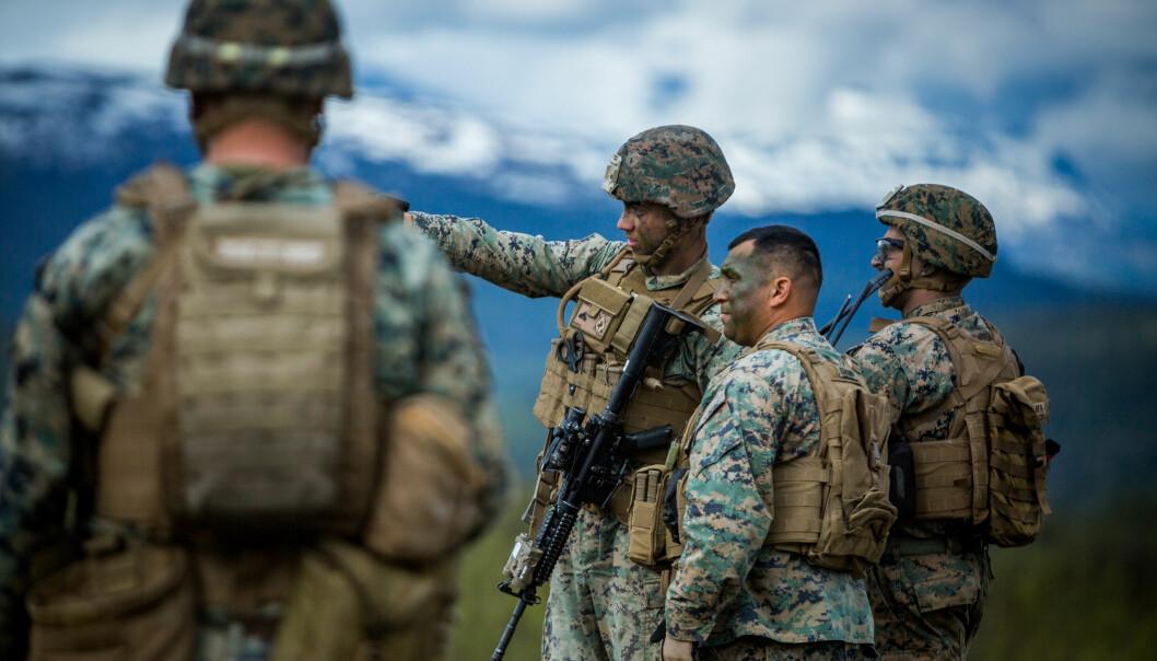 AVTALE: Regjeringen ønsker å inngå en avtale med USA som vil formalisere og styrke forsvarssamarbeidet. Her ser vi US marines deltar på øvelse i Setermoen skytefelt.