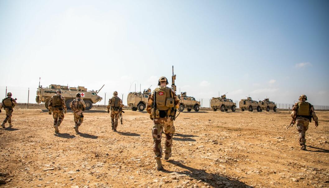 IRAK: Soldater fra Nortu 5 i Al assad Air Base i Irak.