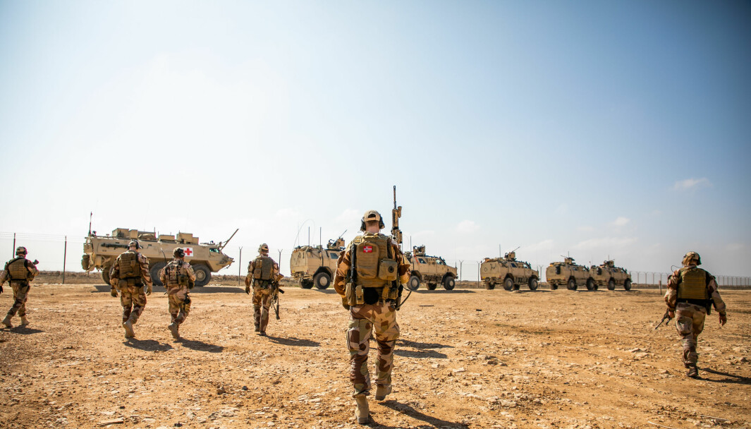 Soldater fra Nortu 5 i Al assad Air Base, Irak.