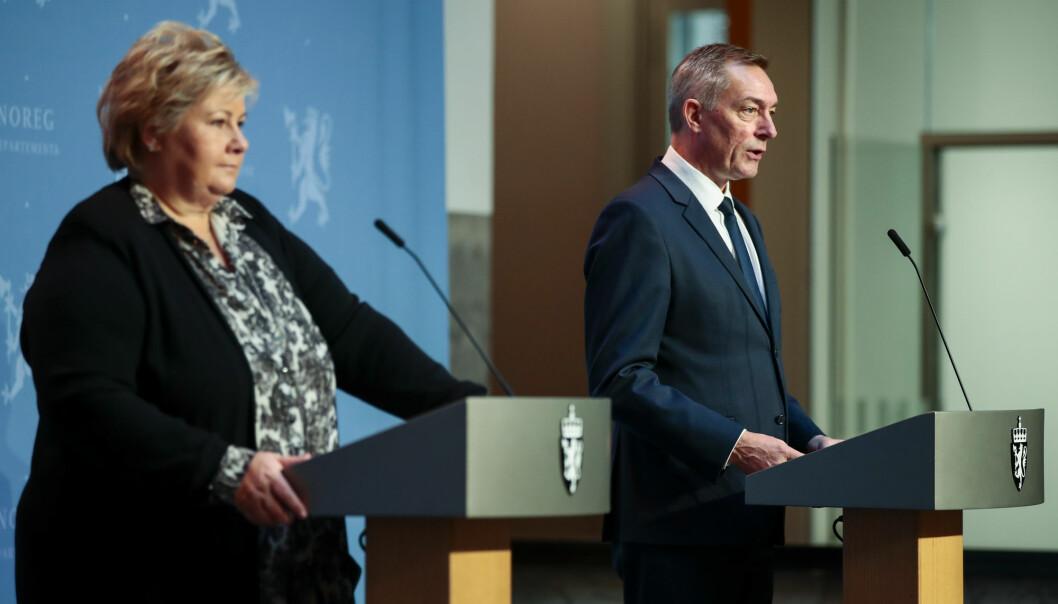 Statsminister Erna Solberg og forsvarsminister Frank Bakke-Jensen la fredag 16. oktober frem nytt forslag til langtidsplan.