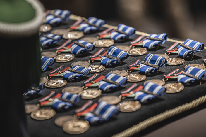 Soldatene fra Forsvarets sanitets bidrag mottok Forsvarets operasjonsmedalje og NATO non-article 5 Resolute Support-medaljen.