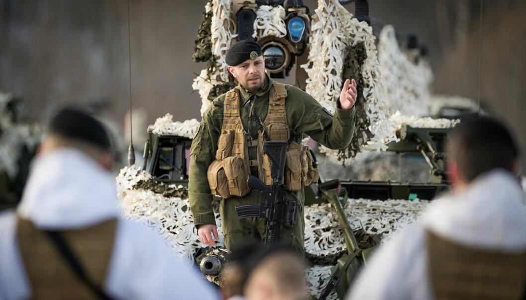 Pål Eirik Berglund i felt. Torsdag tar han over som sjef for Brigade Nord.