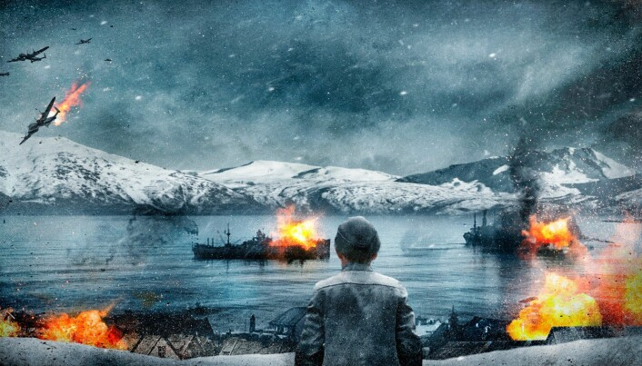 NARVIK-FILM: Konseptbilde for filmen om kampene i Narvik.