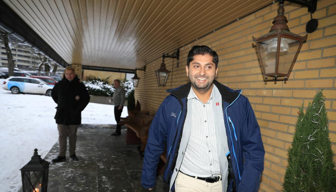 Frp-politiker Himanshu Gulati under partiets landsmøte i 2018. Han ber nå Stortinget om å finne en passende måte å markere at det er 20 år siden det norske bidraget i Afghanistan startet.