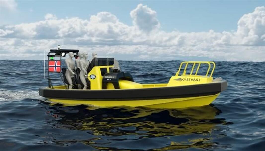 Slik skal den nye Sjøbjørn-båten til indre kystvakt se ut.