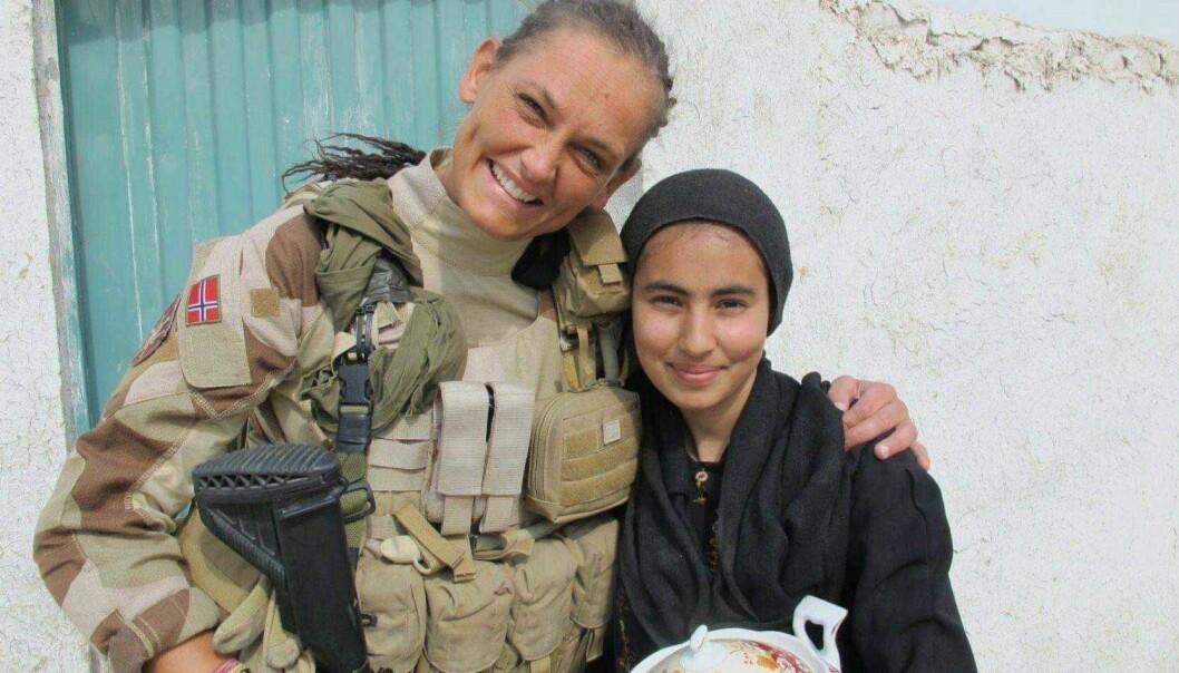 Vibeke Sefland på oppdrag i Afghanistan.
