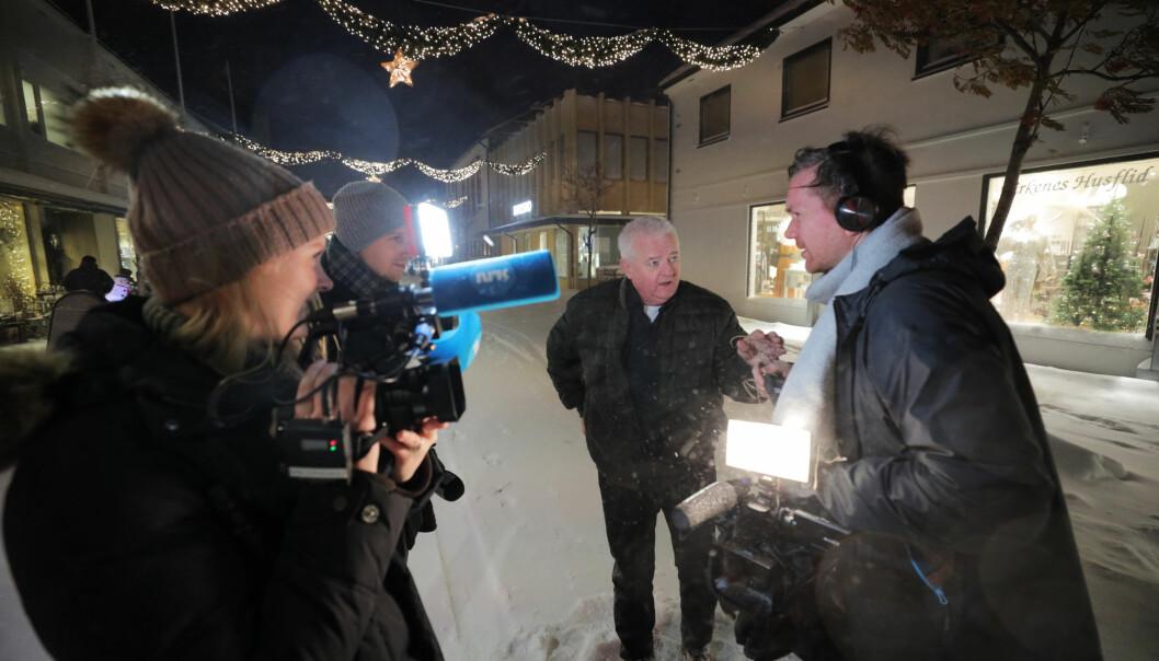1. desember 2019 kom Frode Berg heim til Kirkenes. Dette biletet er tatt dagen etter.