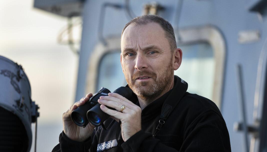 SJEF SJØ: Runde Andersen avbildet i 2018, da han var sjef marinen. Nå er han sjef for Sjøforsvaret.