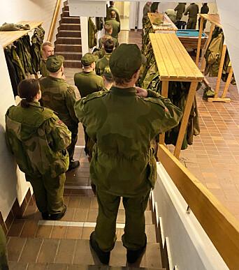 HV-soldater på Heistadmoen.