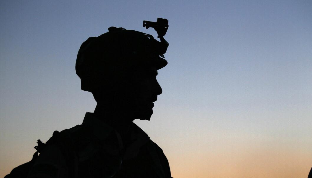 En norsk soldat fra spesialstyrkene avbildet i Afghanistan i 2012.