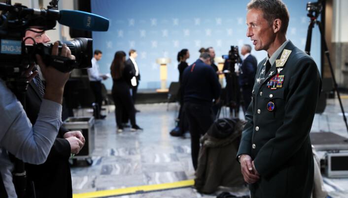 Forsvarssjef Eirik Kristoffersen etter at regjeringen hadde lagt frem sitt forslag til langtidsplan for Forsvaret.
