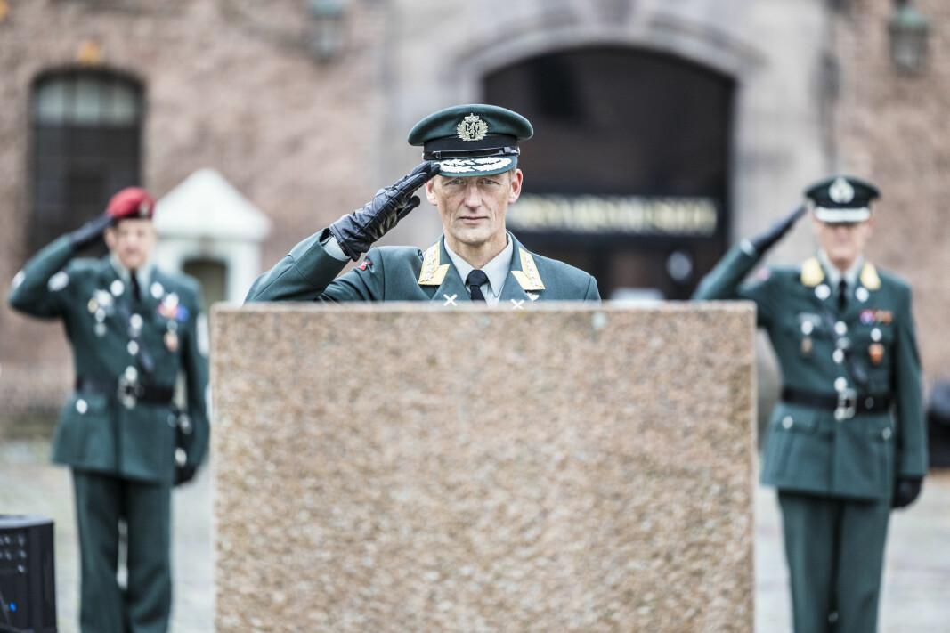 Forsvarssjef Eirik Kristoffersen tenkte litt ekstra på sine falne kamerater Trond Bolle og Tor Arne Lau-Henriksen i dag.