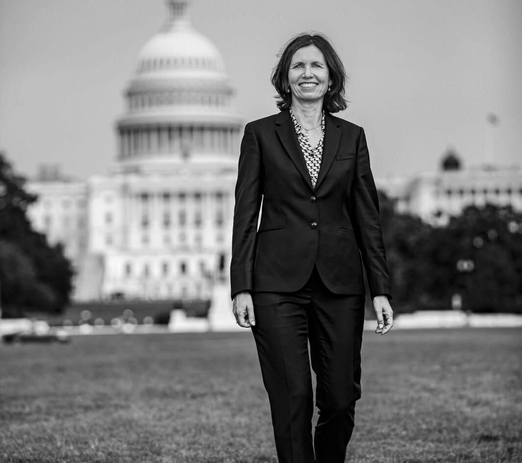 Norges første kvinnelige ambassadør kom til Washington i september.