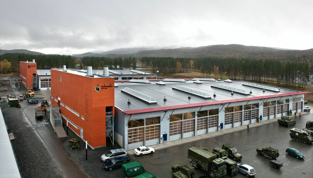 Bilde fra Setermoen leir, der blant annet Panserbataljonen holder til.
