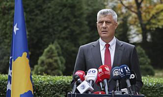 Tiltalt for krigsforbrytelser på 1990-tallet - nå går han av som president i Kosovo