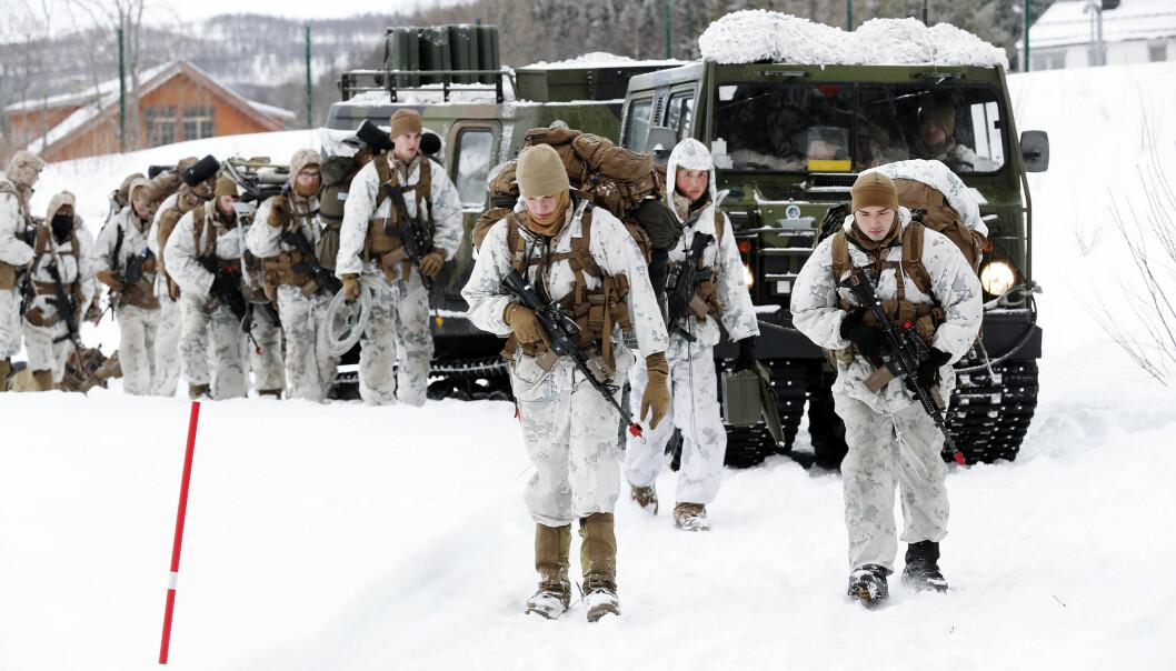 TID: – Vi må gi den nye administrasjonen i Det hvite hus tid før vi gjør oss enda mer avhengige av USA, skriver Oddmund Hammerstad. Her er US Marine Corps under en Cold Response 2020 i Norge.