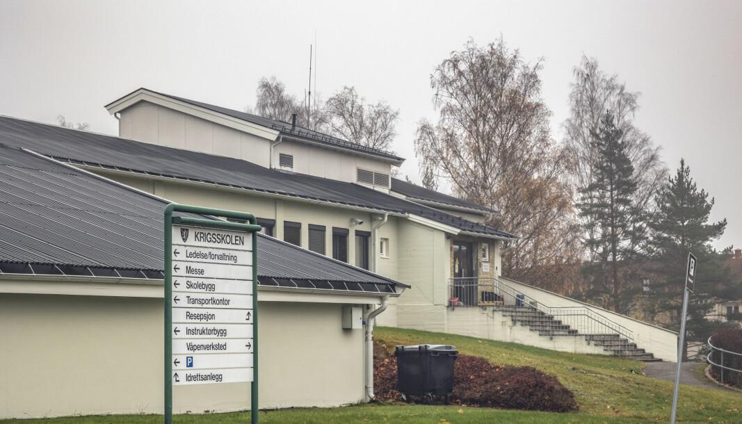 KORONAUTBRUDD: Undervisningsbygget på Krigsskolen på Linderud.