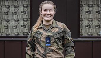 Kadett Helene Fossum Grønseth sitter i korona-karantene.