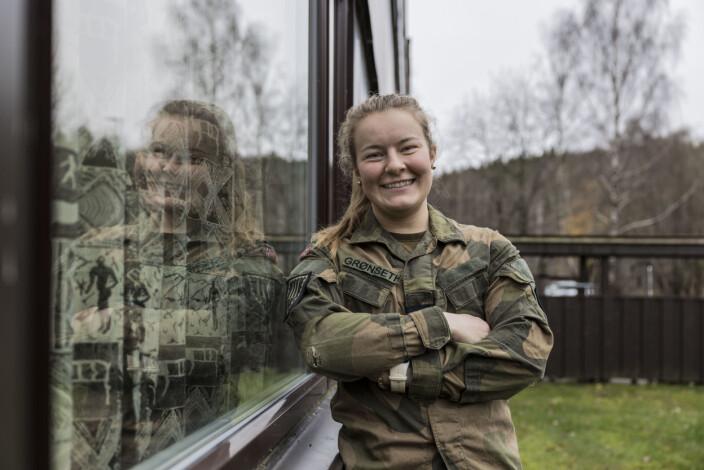 Helene Fossum Grønseth er en av mange kadetter i karantene.